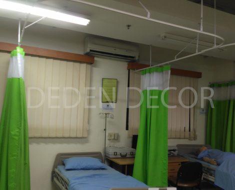 Gorden khusus untuk tirai sekat pasien di rumah sakit
