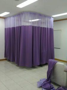 gorden sekat rumah sakit polyster