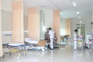 Gorden jaring pabrik rumah sakit untuk sekat rumah sakit